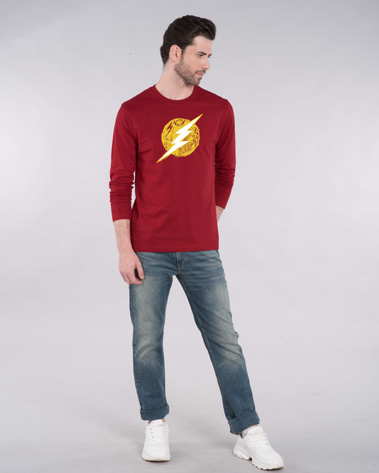 Shop Flash Doodle Logo Full Sleeve T-Shirt (FL)-Design