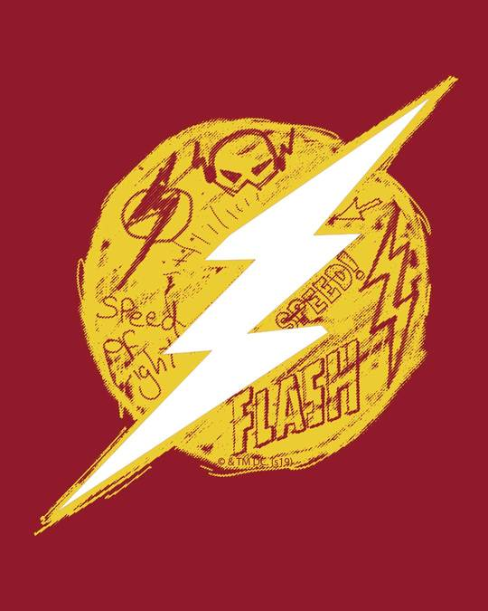 Shop Flash Doodle Logo Full Sleeve T-Shirt (FL)-Full