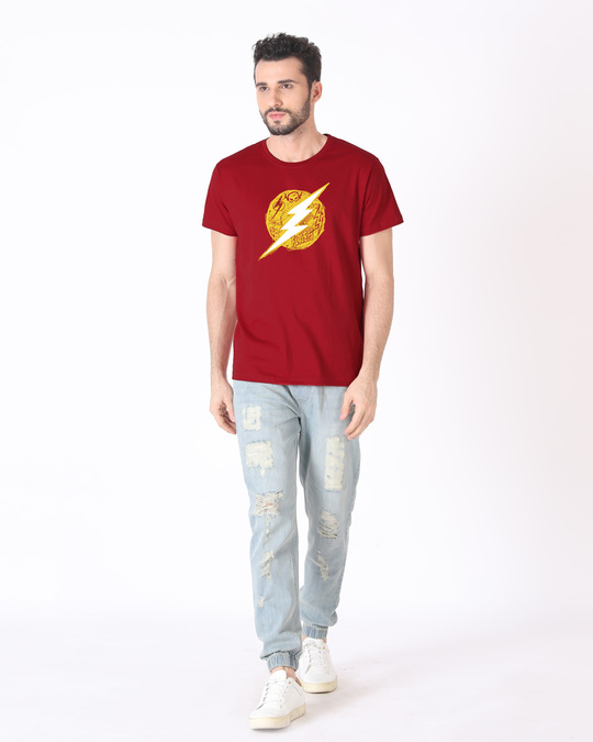 Shop Flash Doodle Logo Half Sleeve T-Shirt (FL)-Design