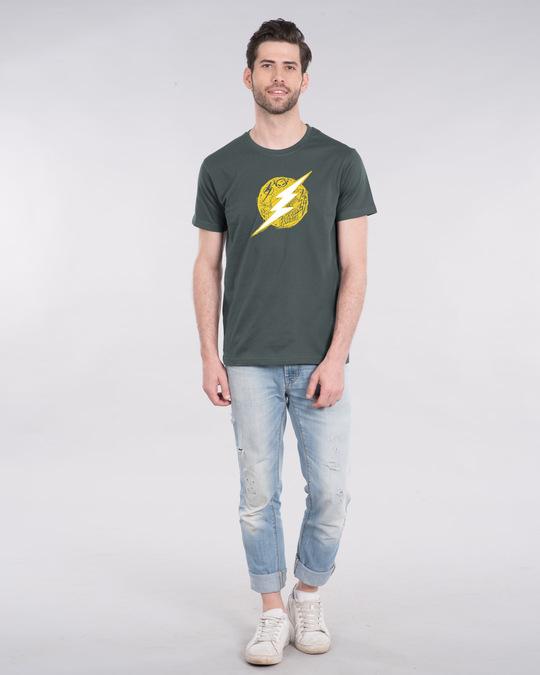 Shop Flash Doodle Logo Half Sleeve T-Shirt (FL)-Design