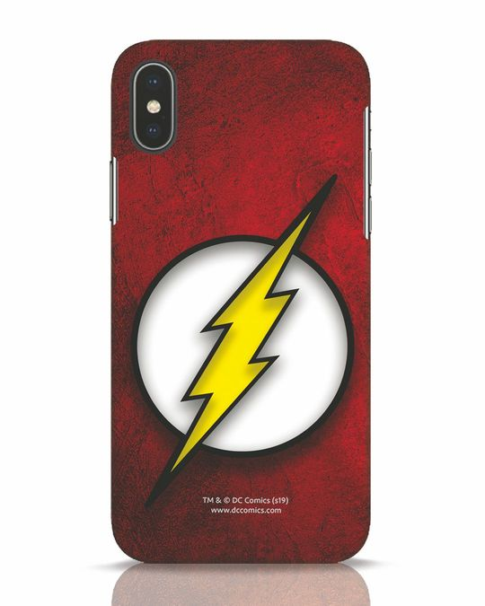 Shop Flash Logo iPhone X Mobile Cover (BML)-Front