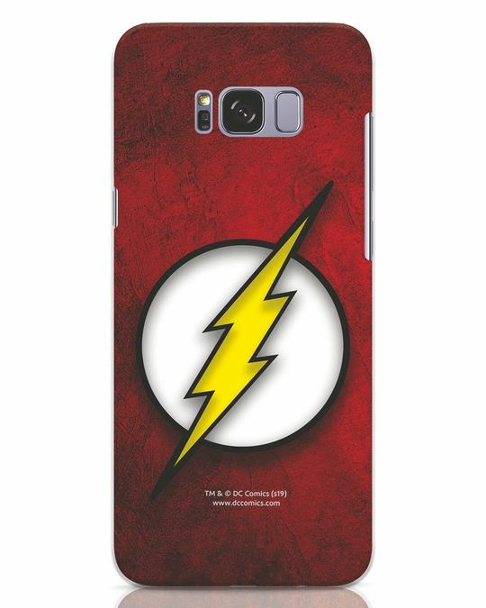 Shop Flash Logo Samsung Galaxy S8 Plus Mobile Cover (BML)-Front