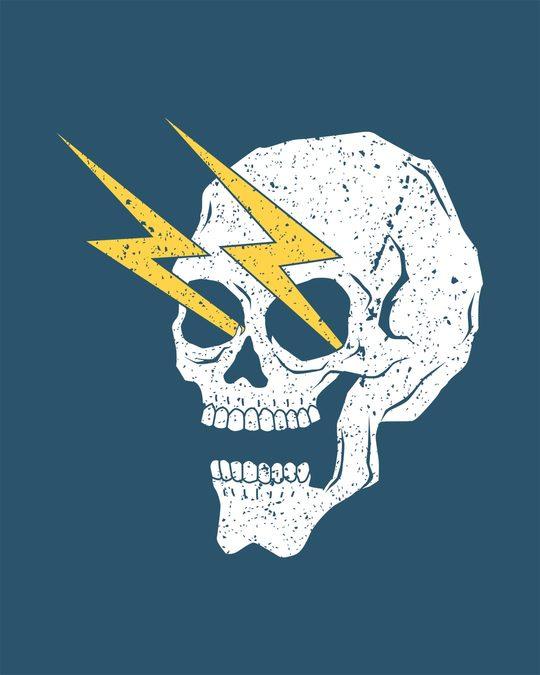 Shop Flash Skull Full Sleeve T-Shirt