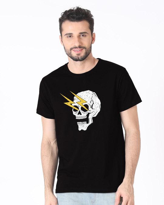 Shop Flash Skull Half Sleeve T-Shirt-Back