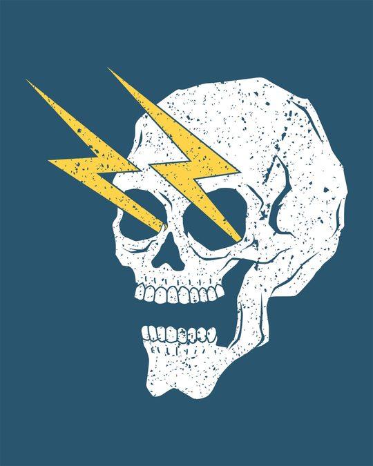 Shop Flash Skull Half Sleeve T-Shirt