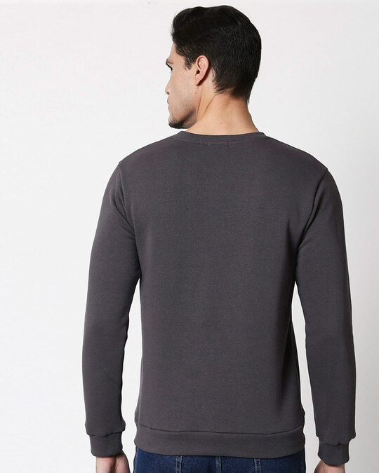 Shop Flash Thunder Fleece Sweater (FL) Nimbus Grey-Back