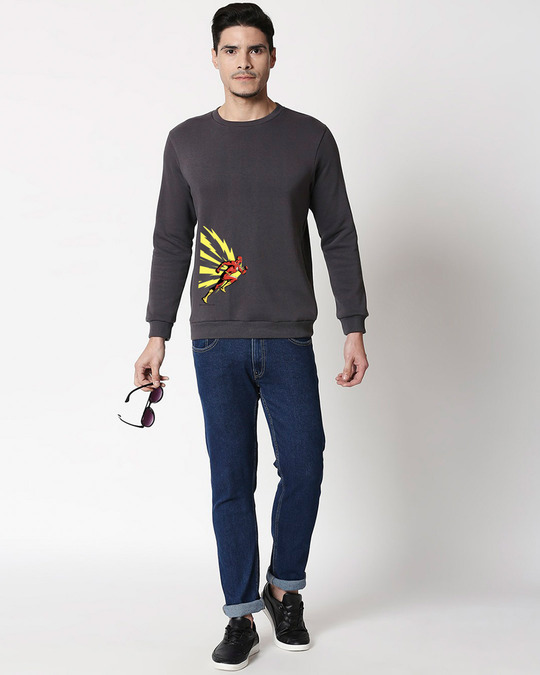 Shop Flash Thunder Fleece Sweater (FL) Nimbus Grey-Design