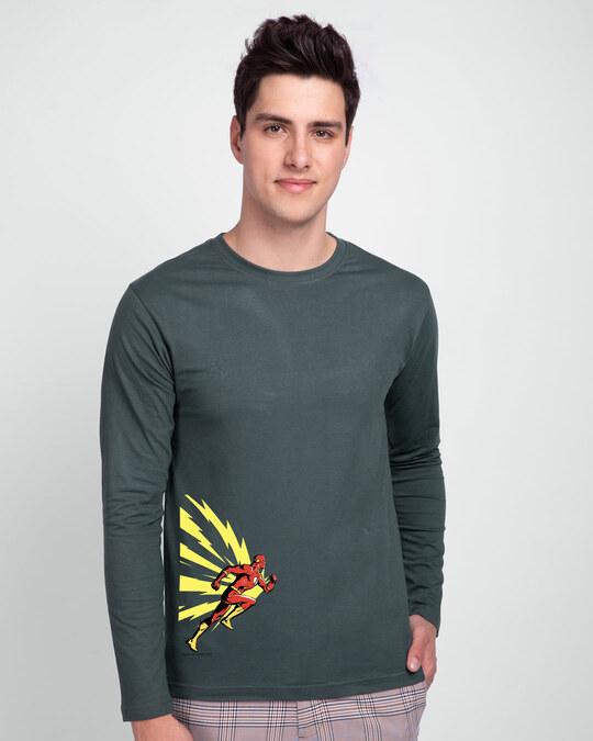Shop Flash Thunder full Sleeve T-Shirt  (FL) Nimbus Grey-Back