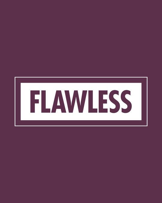 Shop Flawless Bold Half Sleeve T-shirt-Full