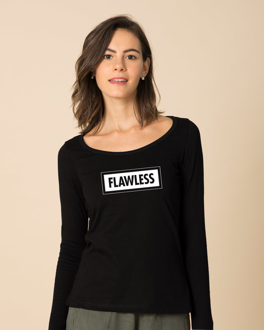 Shop Flawless Bold Scoop Neck Full Sleeve T-Shirt-Front