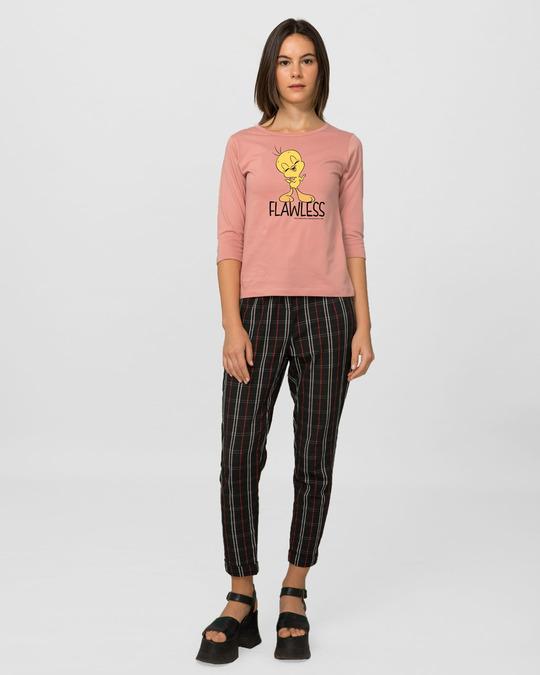 Shop Flawless Tweety Round Neck 3/4th Sleeve T-Shirt (LTL)-Full
