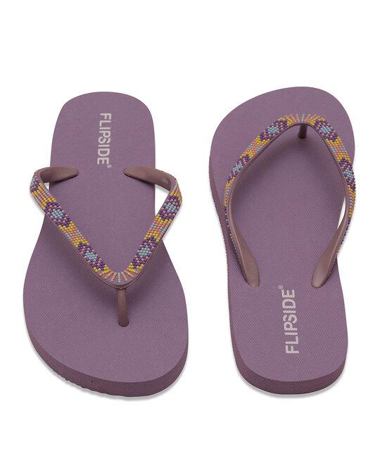 Shop Ladies Mauve Purple Flipflops N Slippers-Design