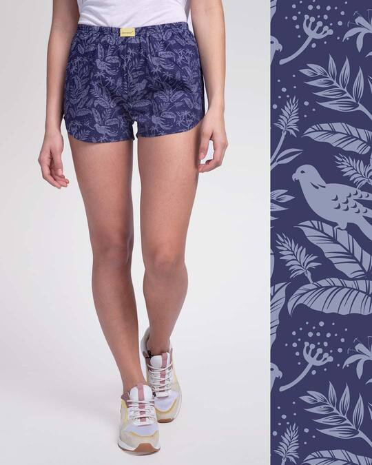 Shop Flora And Fauna All Over Printed Boxer-Front