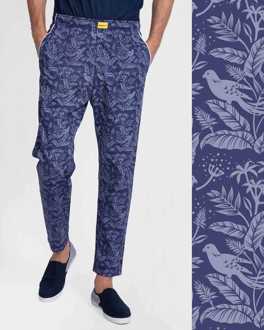 Shop Flora And Fauna All Over Printed Pyjama-Front