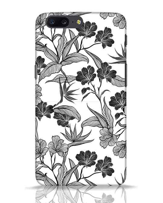 Shop Floral Lines OnePlus 5 Mobile Cover-Front