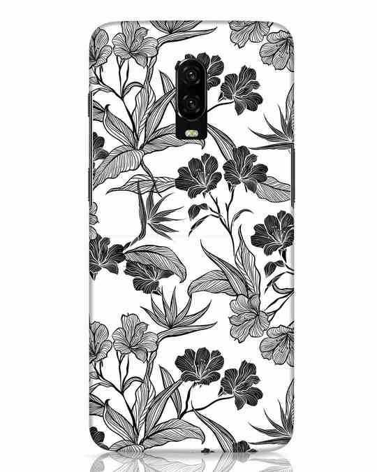 Shop Floral Lines OnePlus 6T Mobile Cover-Front