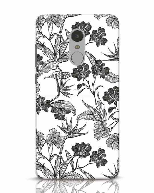 Shop Floral Lines Xiaomi Redmi Note 4 Mobile Cover-Front
