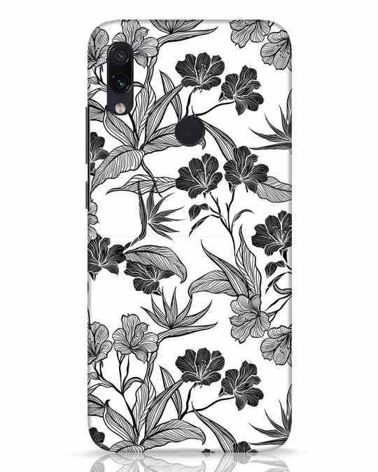 Shop Floral Lines Xiaomi Redmi Note 7 Pro Mobile Cover-Front