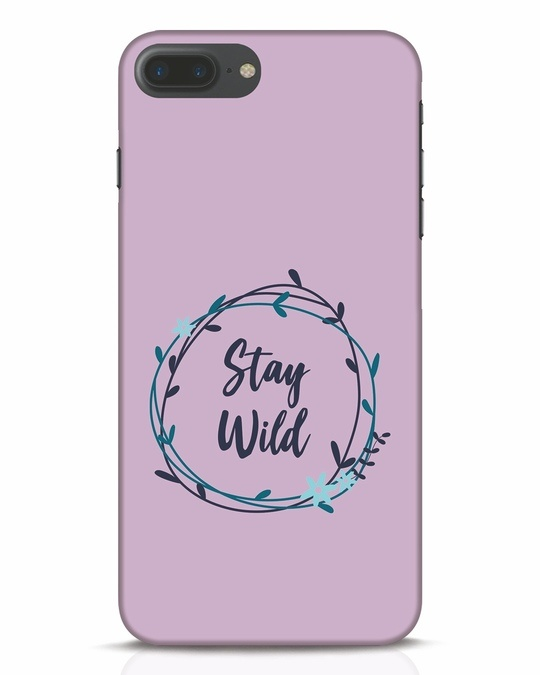 Shop Floral Stay Wild iPhone 7 Plus Mobile Cover-Front