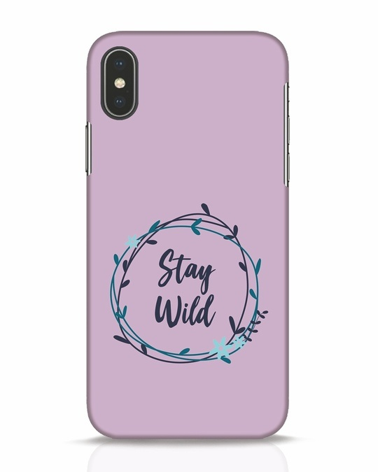 Shop Floral Stay Wild iPhone X Mobile Cover-Front