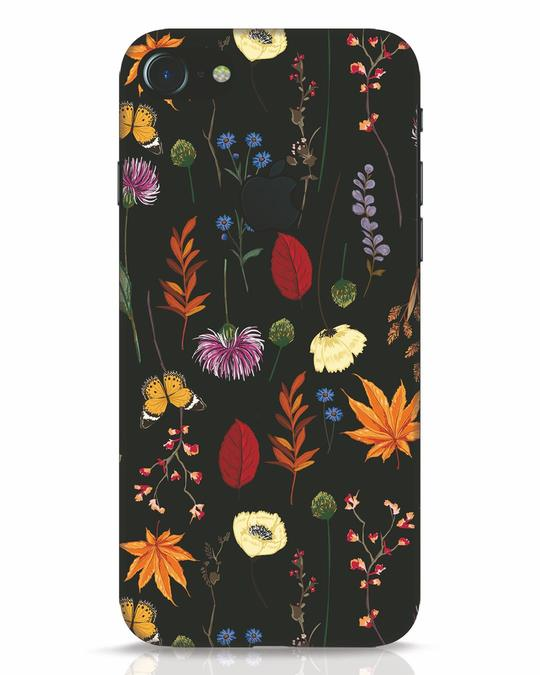 Shop Flowers iPhone 7 Logo Cut Mobile Cover-Front
