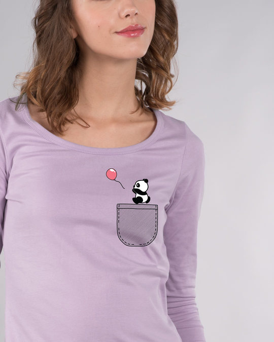 Shop Fly Away Balloon Scoop Neck Full Sleeve T-Shirt-Front