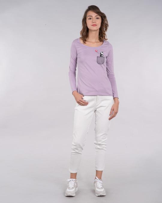 Shop Fly Away Balloon Scoop Neck Full Sleeve T-Shirt-Full