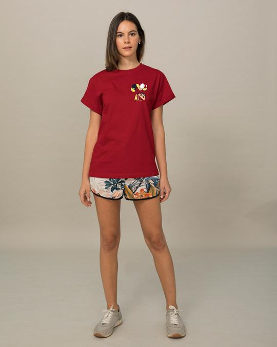 Shop Flying Shinchan Boyfriend T-Shirt (SHL)-Full