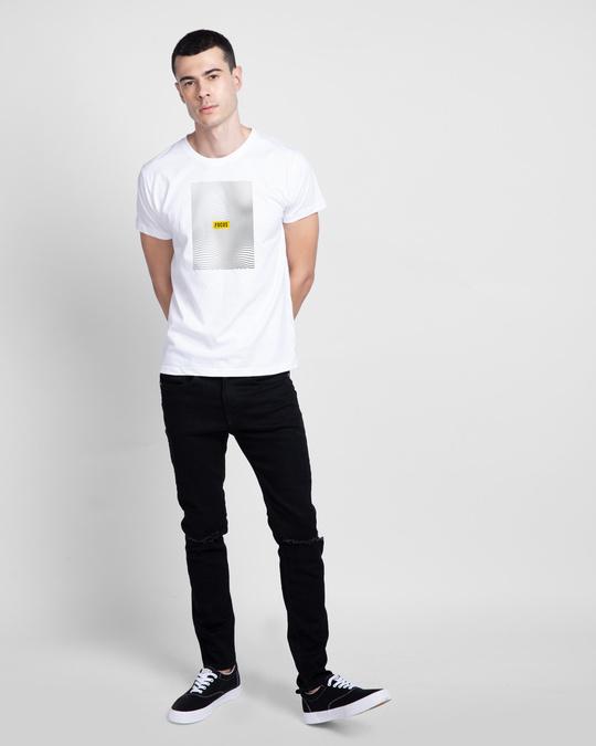 Shop Focus Abstract Half Sleeve T-Shirt White-Design