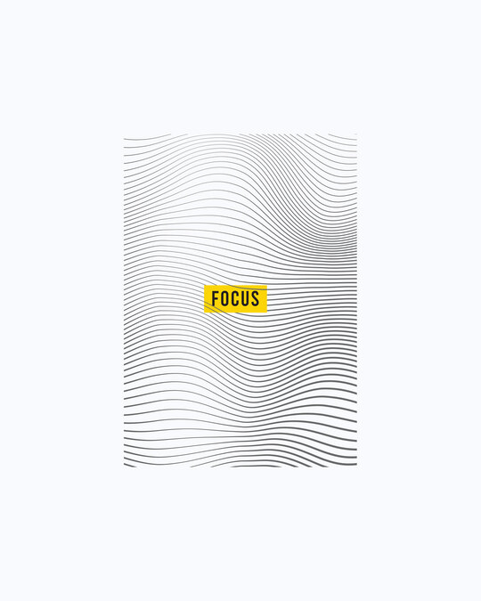 Shop Focus Abstract Half Sleeve T-Shirt White-Full