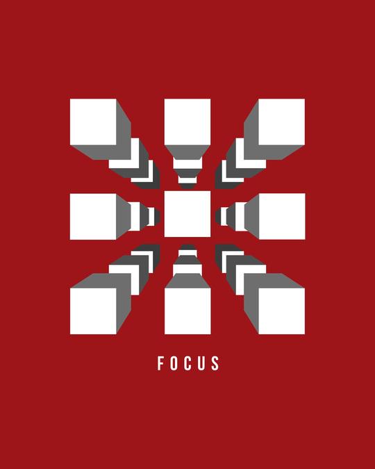 Shop Focus Blocks Full Sleeve T-Shirt Bold Red