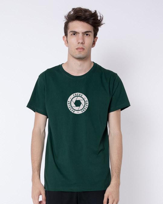 Shop Focus Capture Develop Half Sleeve T-Shirt-Back