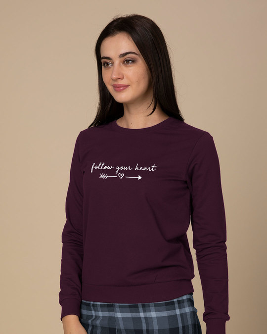 Shop Follow Heart Sweatshirt-Back