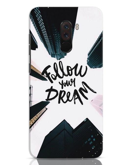 Shop Follow Xiaomi POCO F1 Mobile Cover-Front