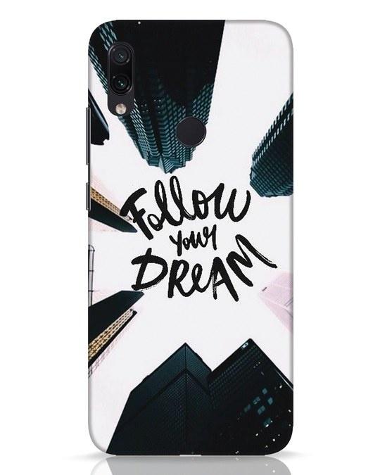 Shop Follow Xiaomi Redmi Note 7 Pro Mobile Cover-Front