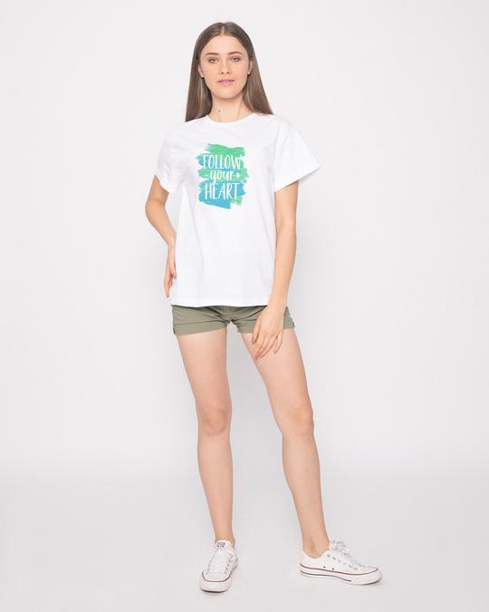 Shop Follow Your Heart Boyfriend T-Shirt