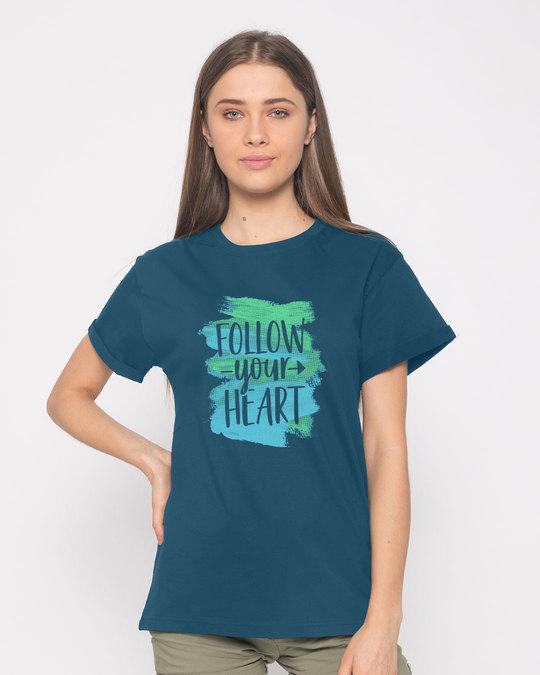 Shop Follow Your Heart Boyfriend T-Shirt-Front