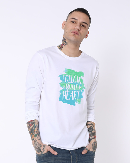 Shop Follow Your Heart Full Sleeve T-Shirt-Front