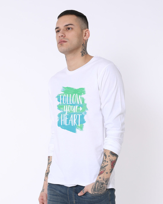 Shop Follow Your Heart Full Sleeve T-Shirt-Back