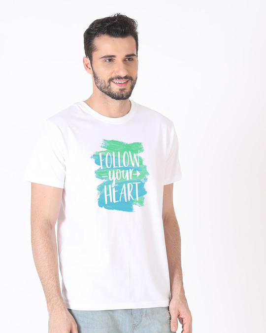 Shop Follow Your Heart Half Sleeve T-Shirt-Full