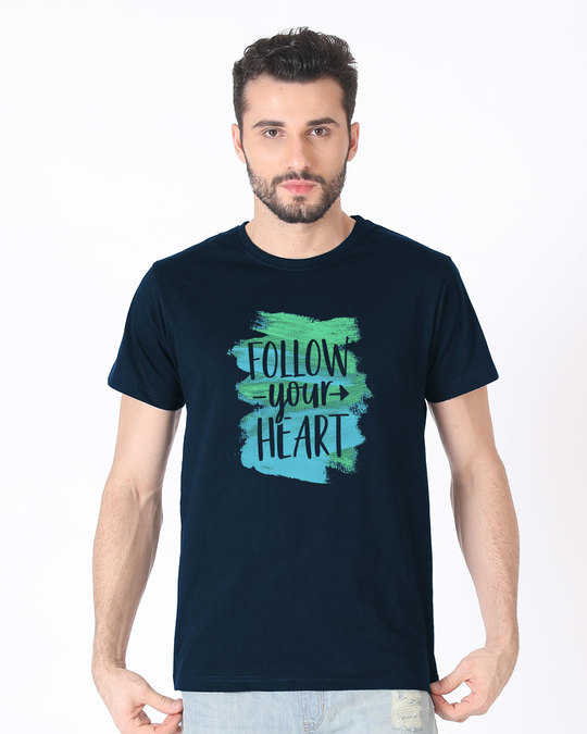 Shop Follow Your Heart Half Sleeve T-Shirt-Back