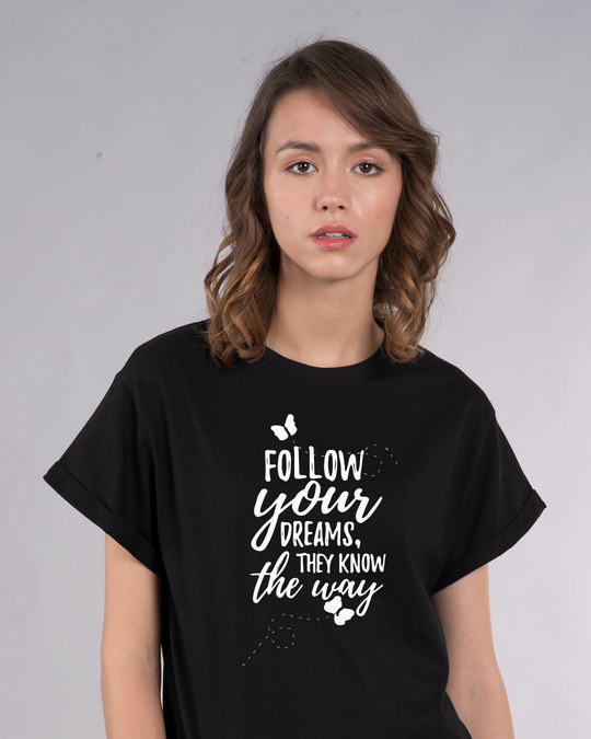 Shop Follow Your Way Boyfriend T-Shirt-Front