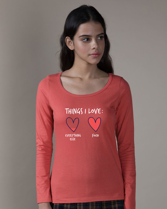 Shop Food Lover Scoop Neck Full Sleeve T-Shirt-Front