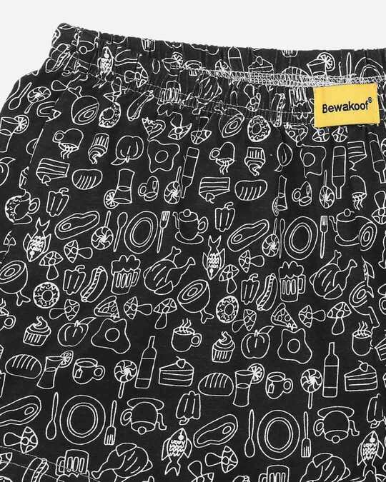 Shop Foodie Black Knitted Boxers