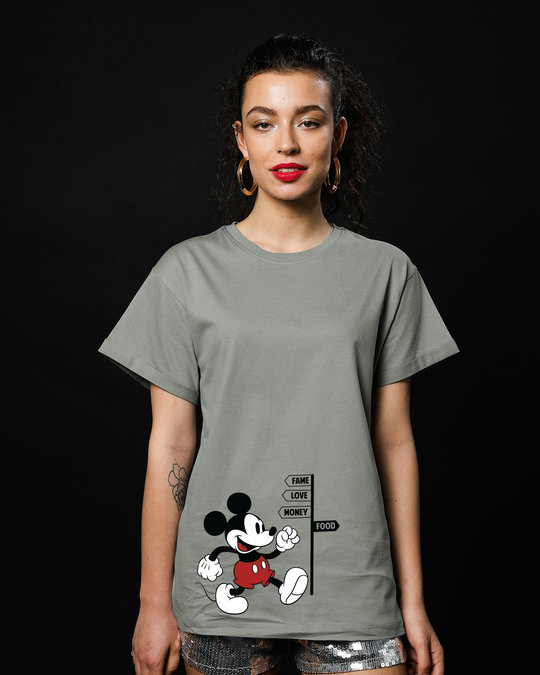 Shop Foodie Mickey Boyfriend T-Shirt (DL)-Front