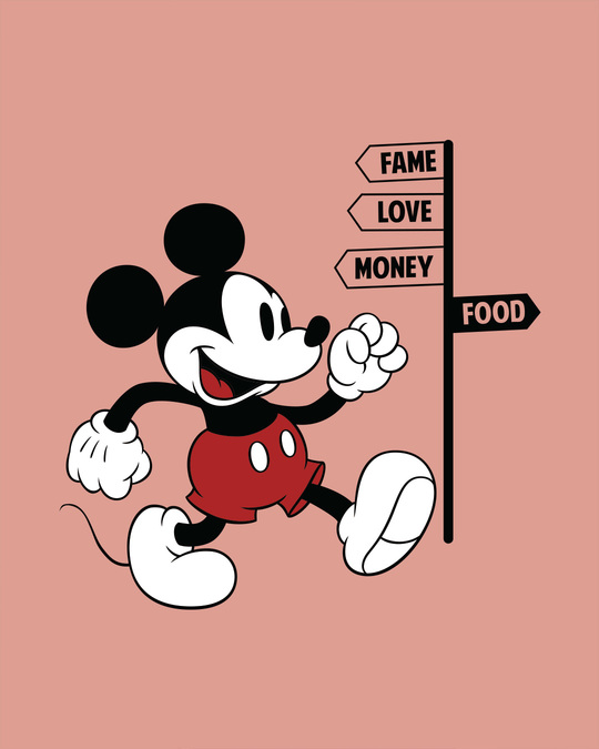 Shop Foodie Mickey Full Sleeve T-Shirt (DL)