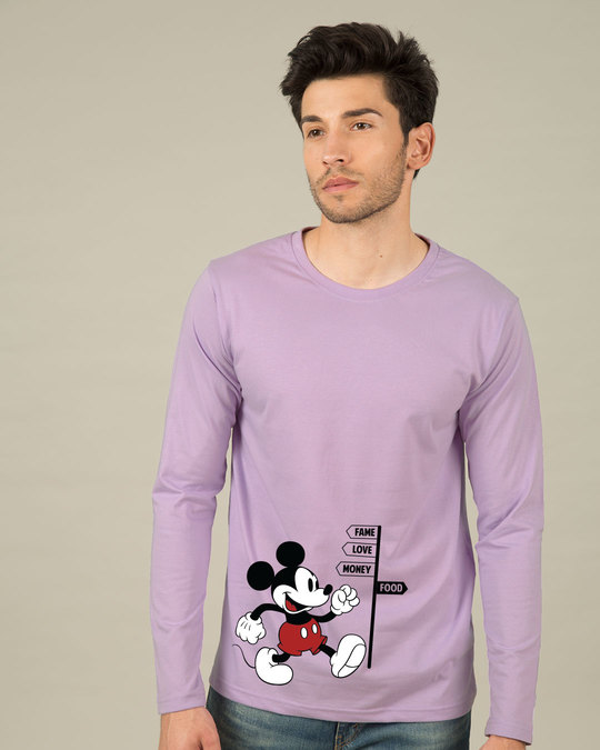 Shop Foodie Mickey Full Sleeve T-Shirt (DL)-Front