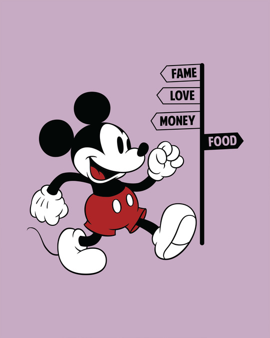 Shop Foodie Mickey Full Sleeve T-Shirt (DL)-Full