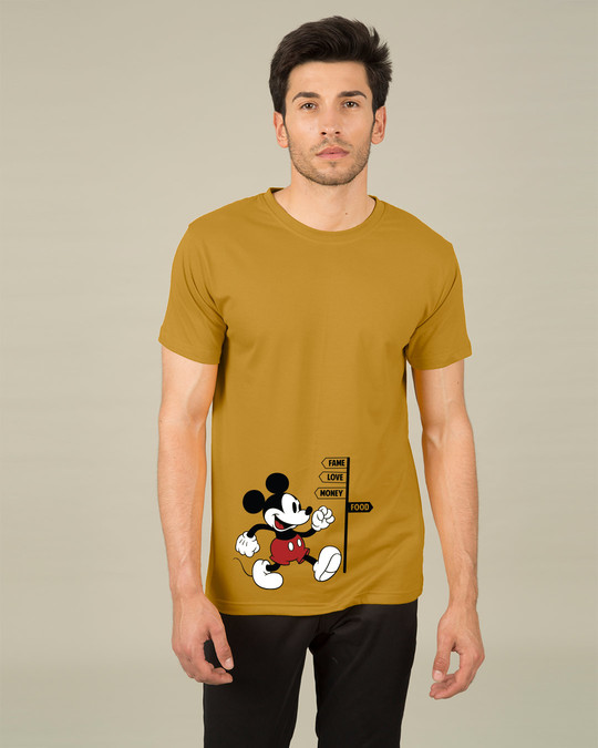 Shop Foodie Mickey Half Sleeve T-Shirt (DL)-Back