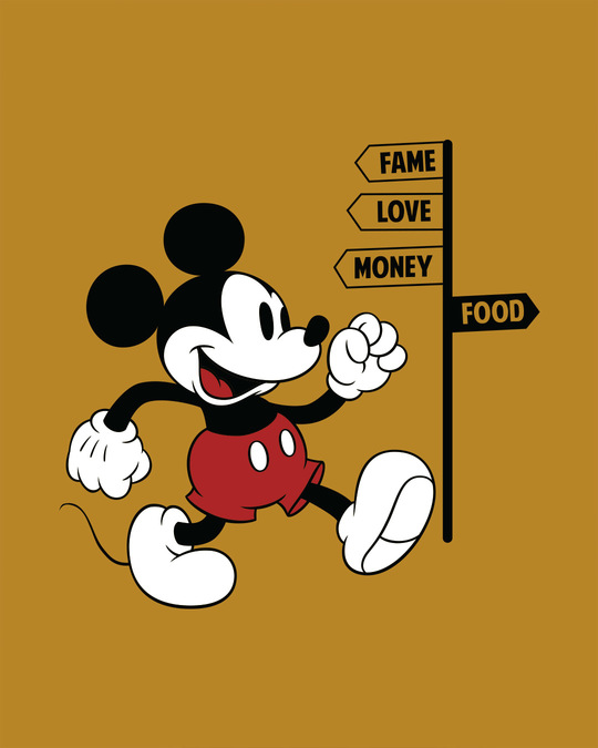 Shop Foodie Mickey Half Sleeve T-Shirt (DL)